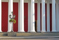 Columns and lantern Royalty Free Stock Image