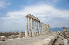 Columns at Laodicea on the Lycus, Turkey. Number of columns in archaic Laodicea on the Lycus city at the Denizli Province, Turkey Stock Photo