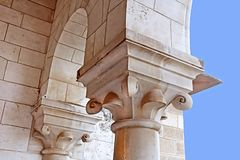 Columns of  Latrun Trappist Monastery in Israel Royalty Free Stock Image