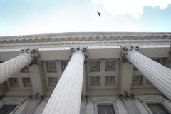 Columns. Of a legal building Royalty Free Stock Photo