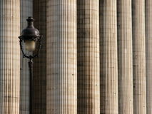 Columns and lighting pole 2 Royalty Free Stock Image