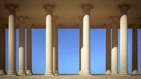 Columns in line Stock Image