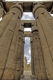 Columns in Luxor Temple. Columns in the hypostyle hall at Luxor Temple Royalty Free Stock Photo