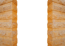 Columns made of stone isolated on white background Stock Images