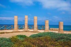 The columns on Mediterranean coast Royalty Free Stock Photo