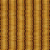 Columns of metal coins pattern Stock Photos