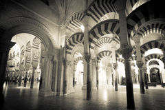 Columns of the Mezquita mosque. The Two-tiered Arcade in the Mesquita are woldfamous Stock Images