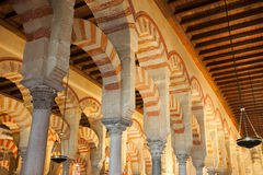 Columns of the mosque. Royalty Free Stock Image