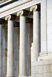 Columns of The National Academy of Athens (Greece) Stock Images