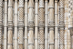 Columns at natural history museum Stock Images