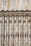 Columns at natural history museum. Detail at natural history museum london Stock Photos