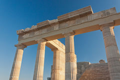 Columns of аncient пreek acropolis Stock Photography