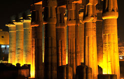 Columns at night Royalty Free Stock Photo