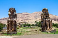Columns Of Memnon Giant Statues Stock Photography
