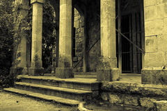 Columns on old building Stock Photos