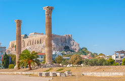 The columns of Olympian Zeus Temple Royalty Free Stock Photography