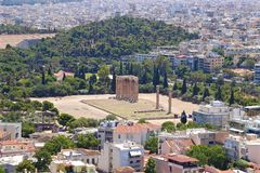 Columns of the Olympian Zeus Stock Photo