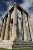 Columns in olympieion athens Stock Photos