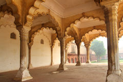 Columns in palace - agra fort Royalty Free Stock Photo