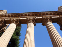 Columns of the Palace of Fine Arts Royalty Free Stock Image