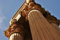Columns from Palace of Fine Arts Stock Photography