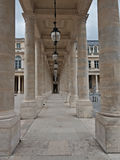 The Columns of Palais Royal in Paris, France Stock Image