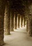 Columns Parc Guell Barcelona, Spain Royalty Free Stock Image