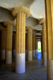 Columns in Park Guell,Barcelona Royalty Free Stock Photo