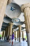 Columns in Park Guell , Barcelona, Spain royalty free stock photography