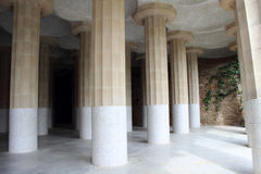 Columns in Park Guell Royalty Free Stock Photos