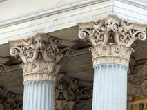 Columns at the parliament in vienna Royalty Free Stock Image