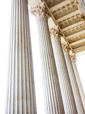 Columns at the parliament in vienna Stock Images