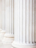 Columns at the parliament in vienna Royalty Free Stock Images