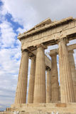 Columns of Parthenon. At Acropolis Stock Photos