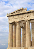 Columns of Parthenon at Acropolis. In Athens,Greece Royalty Free Stock Image