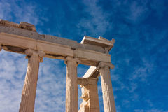 Columns of parthenon Royalty Free Stock Images