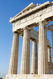 Columns of Parthenon in Athenian Acropolis Royalty Free Stock Photo