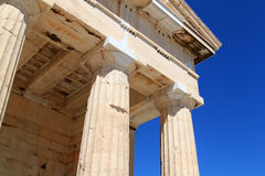 Columns of Parthenon stock photography