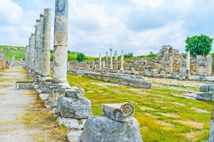 Columns in Perge Royalty Free Stock Photos