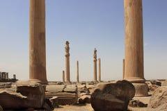 The columns at Persepolis (Iran) stock image