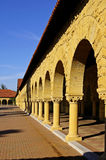 Columns perspective. Architectural details, columns perspective at Stanford University, California royalty free stock photo