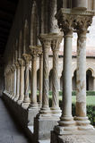 Columns Perspective. In the Monreale Cloister Royalty Free Stock Images