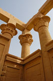 Columns in Philae temple, Egypt Stock Images