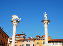 Columns in Piazza Dei Signori Royalty Free Stock Photo