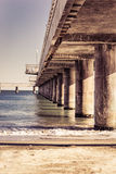 Columns of Pier in Burgas Royalty Free Stock Photography