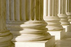 Columns, Pillars, close up Stock Image