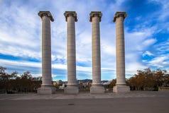 Columns on the Placa De Espanya in Barcelona Royalty Free Stock Photos