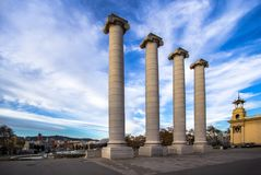 Columns on the Placa De Espanya in Barcelona Royalty Free Stock Photography