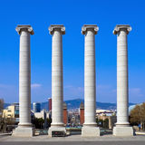 Columns at Placa de Espanya Royalty Free Stock Image