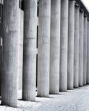 Columns. Poles of the cityhall building, Reykjavik, Iceland Royalty Free Stock Photo